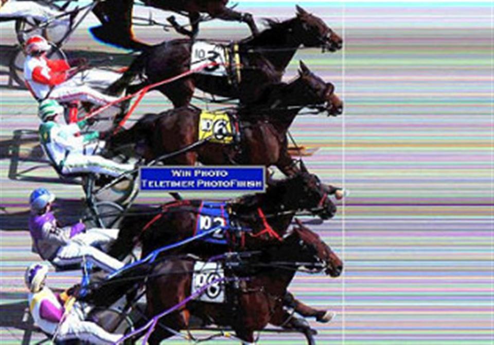 Triple dead heat in race 10 at The Meadows on 03/29/2009